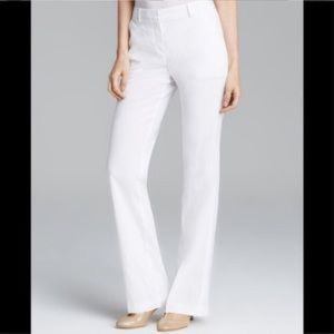 White Linen Theory Trouser Pants Size 6